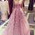 Dusty Vintage Lace Applique Strapless Long Prom Dresses Evening Dress