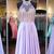 Chic Prom Dresses A-line Halter Chiffon Lilac Prom Dress/Evening Dress