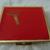 vintage 1965 Gillette red metal travel case w/razor mirror mint unused