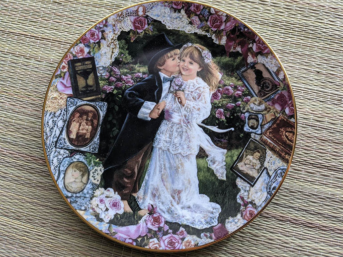 Sentimental Sweethearts collectors plate