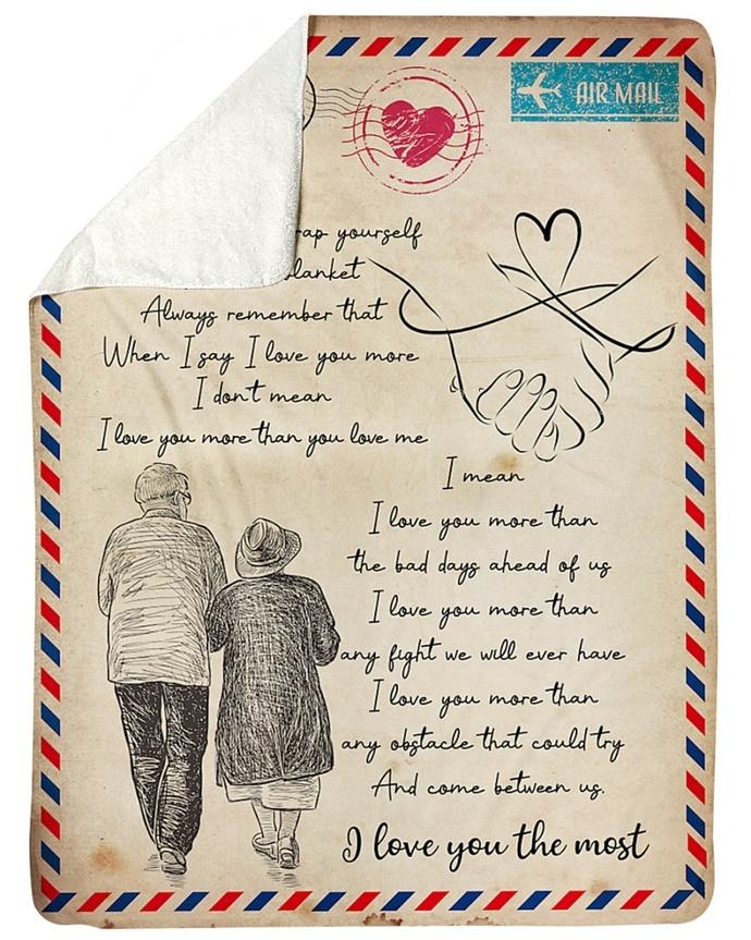 Gift For Wife Fleece Blanket - Valentine's Day Gift For Wife - Best Gift For
