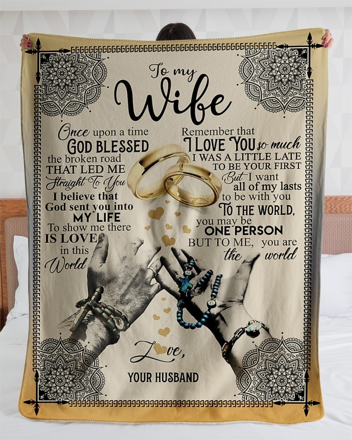 Gift For Wife Fleece Blanket - Valentine's Day Gift For Wife - Best Gift For