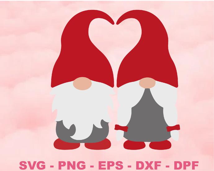 Valentine Gnome svg, Valentines svg, Gnome svg, Valentines Day svg, Gnome with
