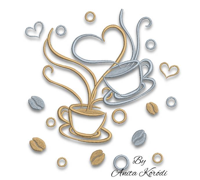 Coffee embroidery design coffee Kitchen mom embroidery instant digital download
