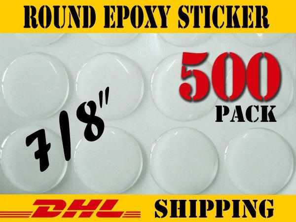 "500 pcs Round 7/8""  Clear Epoxy Stickers"