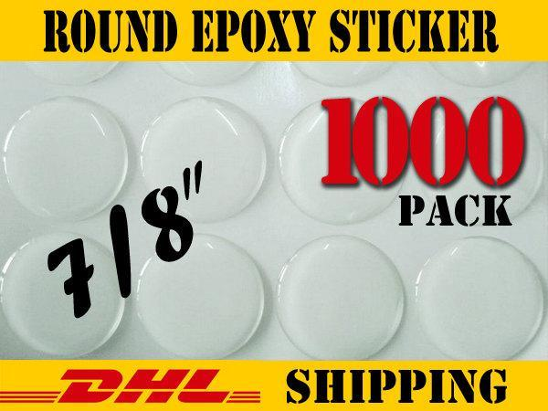 "1000 pcs Round 7/8""  Clear Epoxy Stickers"