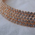 vintage Fragments Mfg. Co. gold five rows clear Swarovski crystals neckpiece