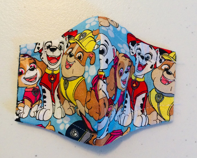 Paw Patrol Face Mask in Toddler - Adult Sizes