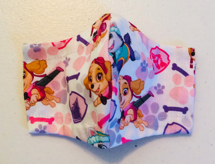 Pink Paw Patrol Face Mask in Toddler - Adult Sizes