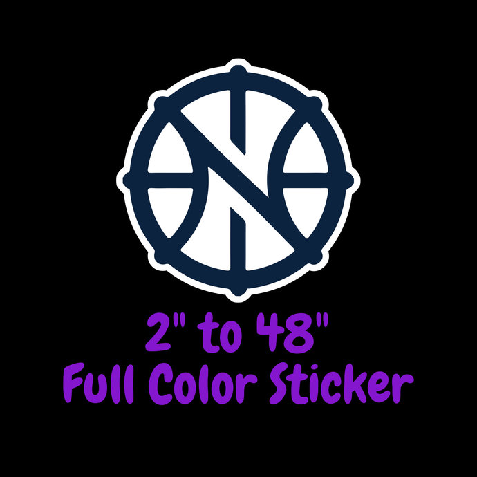 New Orleans Pelicans Full Color Vinyl Sticker ; Hydroflask decal Laptop Decal ;