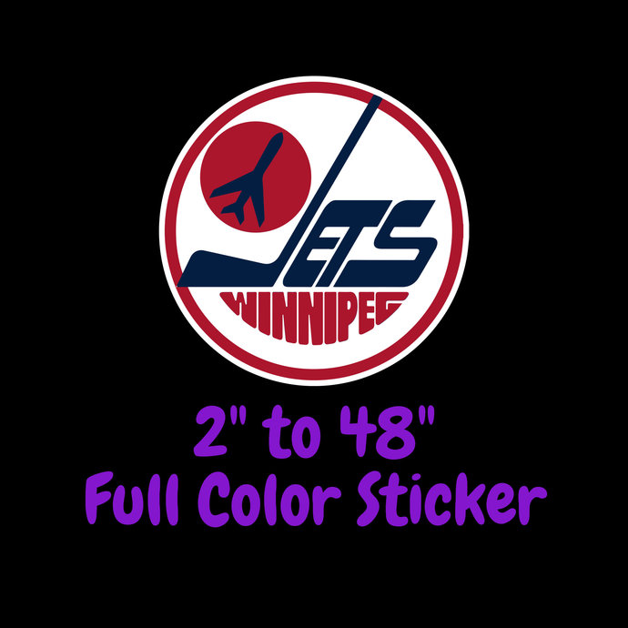 Winnipeg Jets Full Color Vinyl Sticker ; Hydroflask decal ; Laptop Decal ; Yeti
