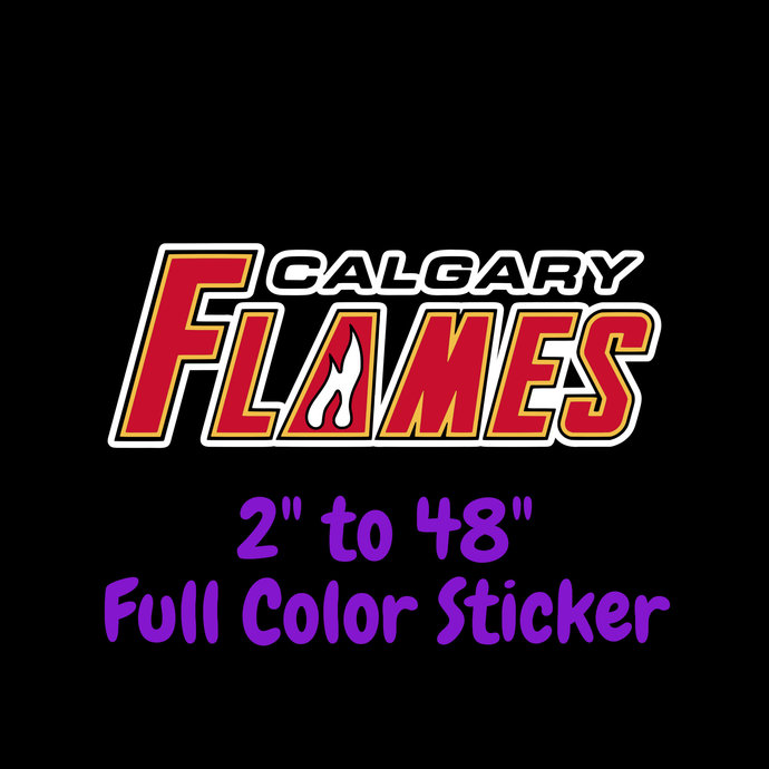 Calgary Flames Full Color Vinyl Sticker ; Hydroflask decal ; Laptop Decal ; Yeti