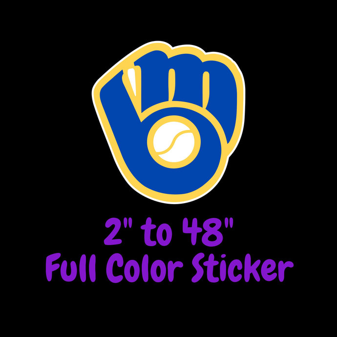 Milwaukee Brewers Full Color Vinyl Sticker ; Hydroflask decal  Laptop Decal Yeti