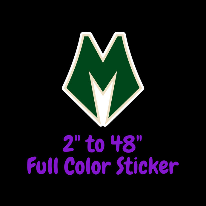 Milwaukee Bucks Full Color Vinyl Sticker ; Hydroflask decal Laptop Decal ; Yeti
