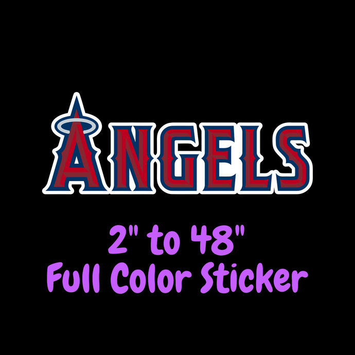 Los Angeles Angels Full Color Vinyl Sticker ; Hydroflask decal ; Laptop Decal ;