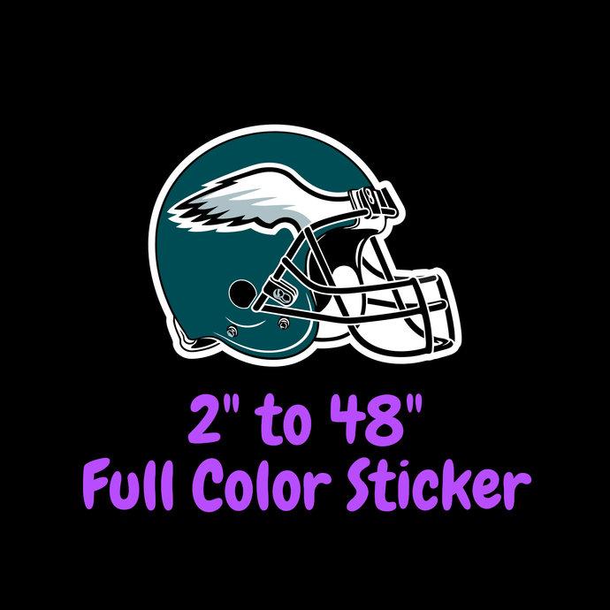 Philadelphia Eagles Full Color Vinyl Sticker ; Hydroflask decal ; Laptop Decal ;