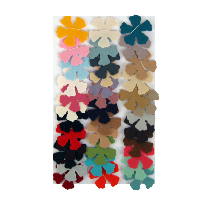 Multicolored Vinyl Die Cut Flower Variety Set