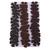 3 Shades of Dark Brown Vinyl Die Cut Flower set