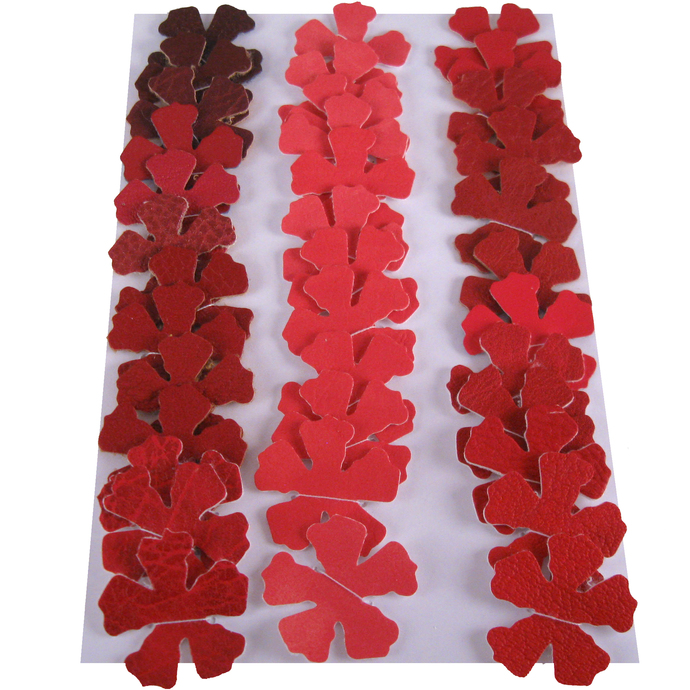 Shades of Red and Pink Vinyl Die Cut Flowers
