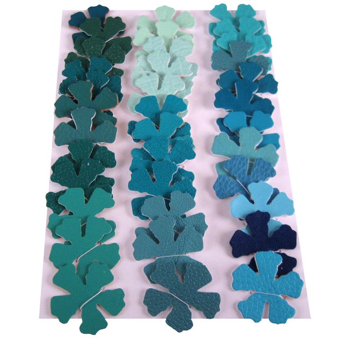 Green Blue Vinyl Die Cut Flower set