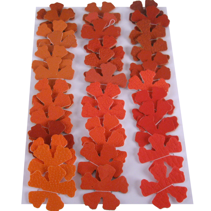 Orange and Red Vinyl Die Cut Flowers