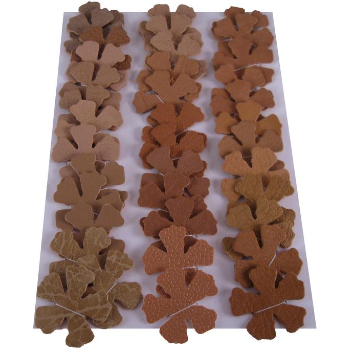 36 Light Brown Vinyl Die Cut Flowers