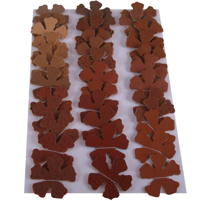 36 Brown Vinyl Die Cut Flower Set