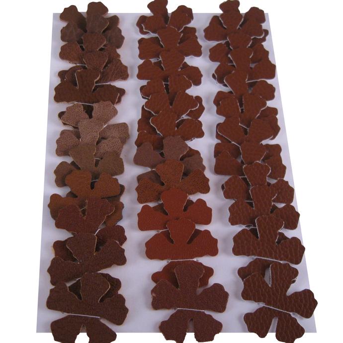 Dark Brown Vinyl Die Cut Flowers