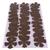 Brown Faux Leather Vinyl Die Cut Flowers