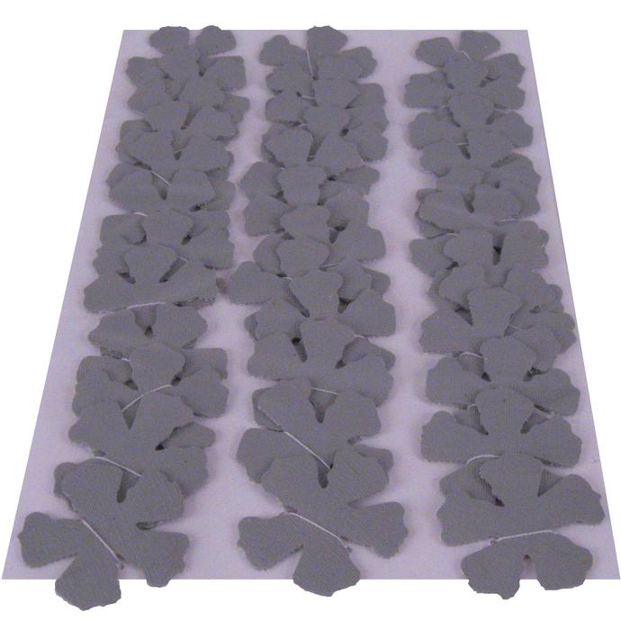 Gray Textured Vinyl Die Cut Flowers