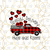 Bundle Digital Valentines Buffalo Plaid Truck, Valentines Day, Plaid, Heart,