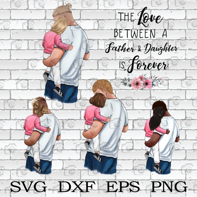 The Love Between A Father And Daughter Png, Daddy Png, Father Png, Family Png,
