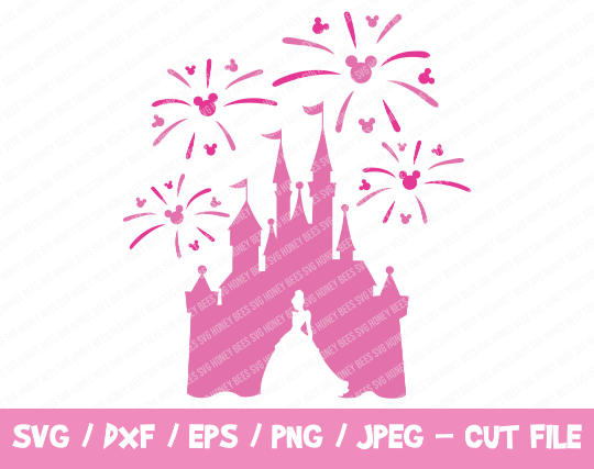 Disney Castle SVG, Disney Castle Fireworks SVG, Disney Castle with Cinderella,