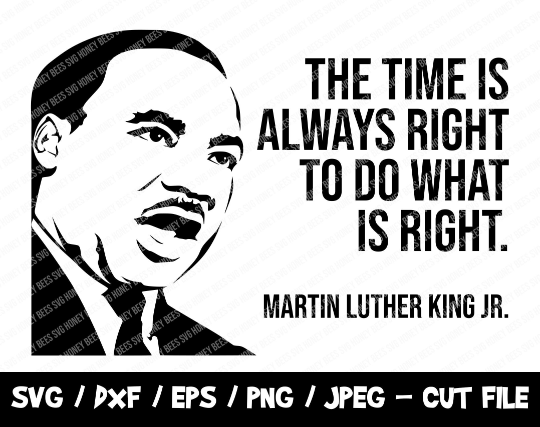 Martin Luther King SVG, BLM SVG Cut File, Mlk Quote Svg, No Justice No Peace