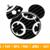 Mickey Head BB8 Svg, Mickey Mouse Head Shape Svg, Disney Monogram Frame Svg,