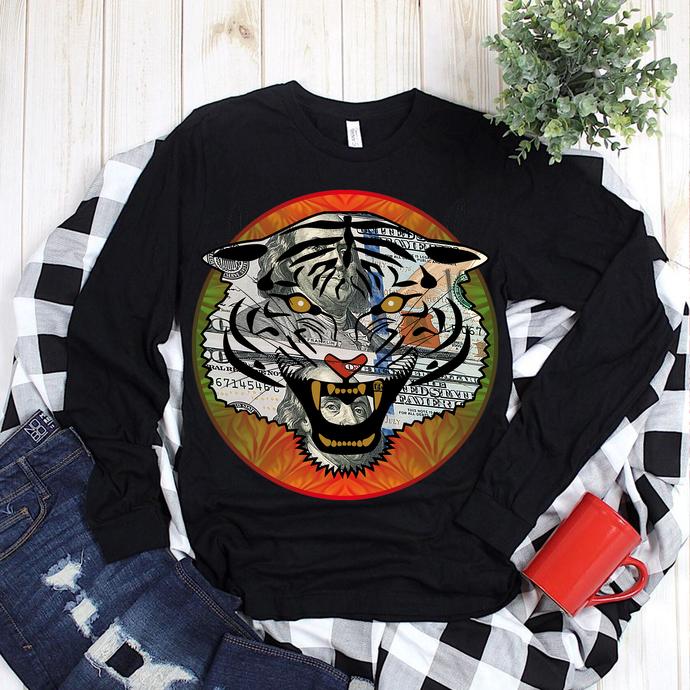 Angry tiger, Angry tiger PNG, Angry tiger vector, Dollar tiger PNG, Dollar tiger