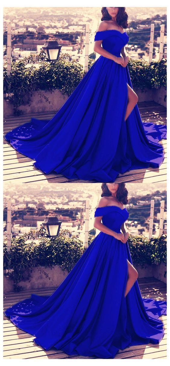 Off Shoulder Long Satin Prom Dresses Womens Formal Evening Gowns M8615