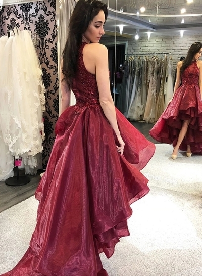 Sexy O-Neck A-Line Prom Dresses,Long Prom Dresses,Cheap Prom Dresses, Evening