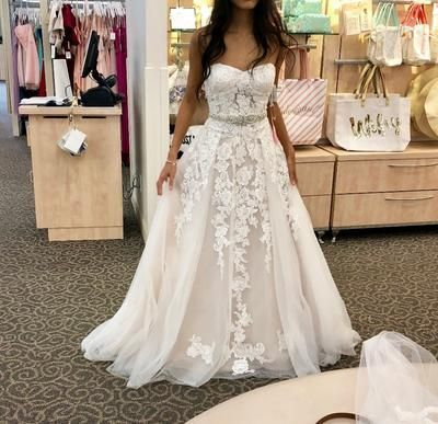 Sweetheart White Lace Prom Dress , Charming Prom Dress  M8627