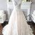 A-line V Neck Lace Prom Dress With Train M8628