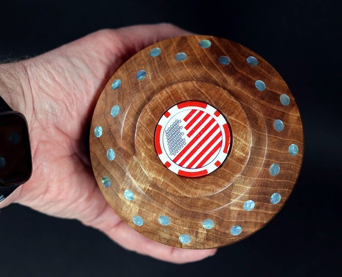 Large Handmade Throw Top ... West Coast Crotch Maple