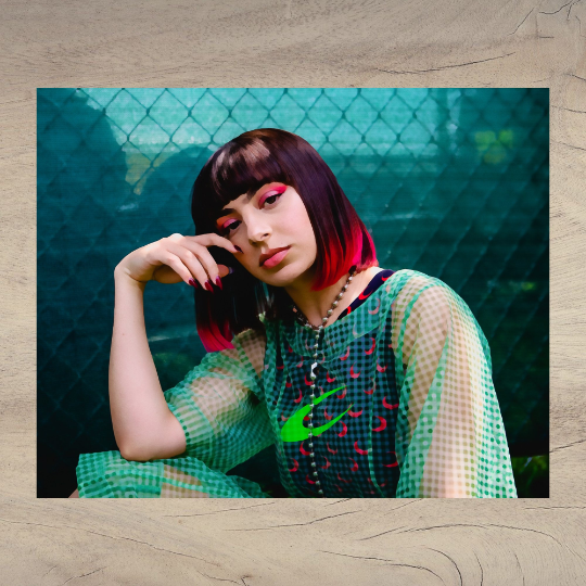 Watercolor - Watercolor Charli XCX - Charli XCX - Charli XCX Red Hair - Green