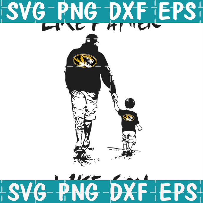 Like father Mizzou like son svgNFL Svg, NFL Team Svg, Football Svg, American