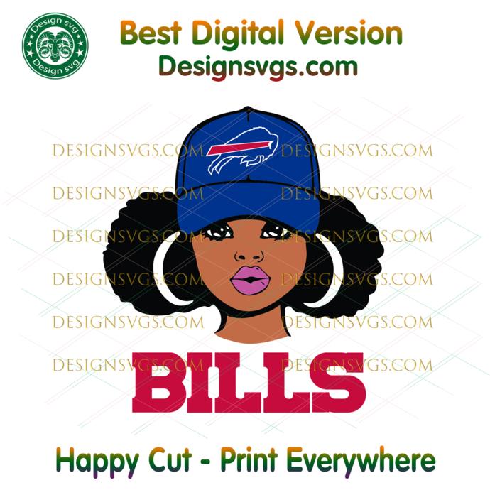 Buffalo Bills Girl Svg, Sport Svg, Football Svg, Football Teams Svg, NFL Svg,