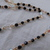 vintage black clear aurora borealis large and small crystals necklace mint