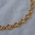 vintage Monet thick heavy gold circle links chain necklace signed