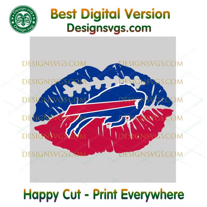 Buffalo Bills NFL Lips Svg, Sport Svg, Football Svg, Football Teams Svg, NFL