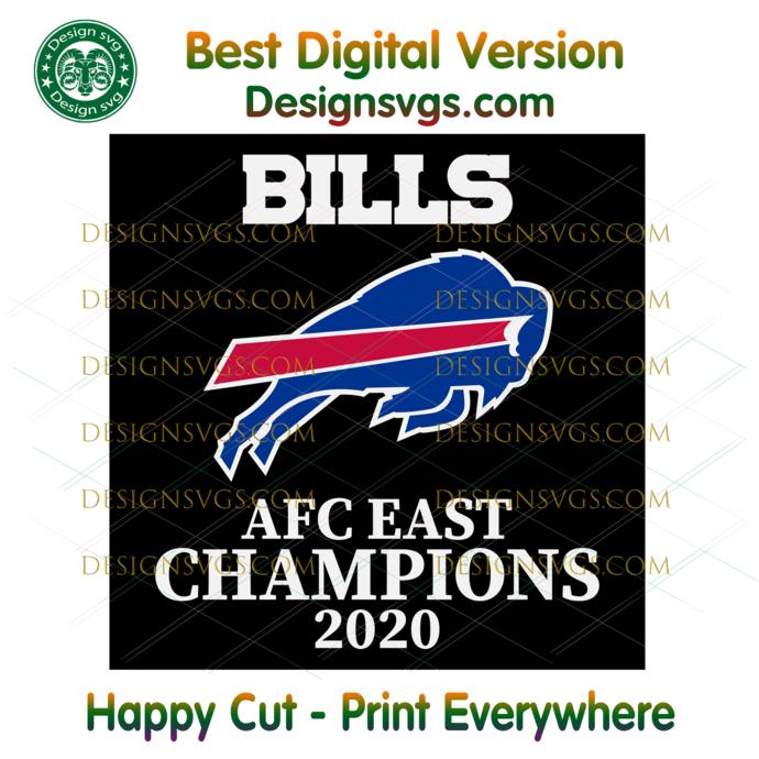 Bills AFC East Champions 2020 Svg, Sport Svg, NFL Svg, Football Svg, Football