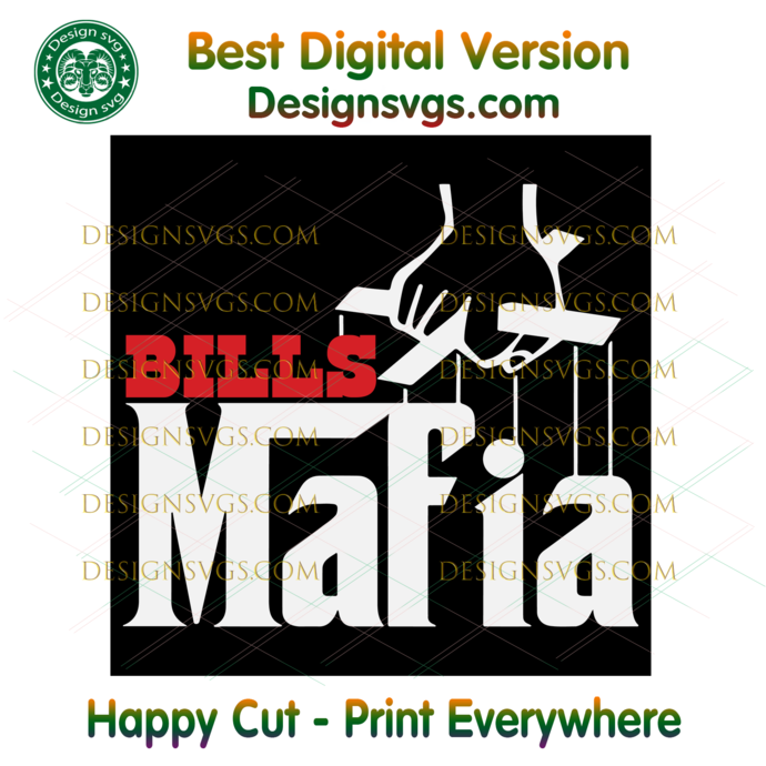 Bills Mafia Svg, Sport Svg, NFL Svg, Football Svg, Football Team Svg, Buffalo