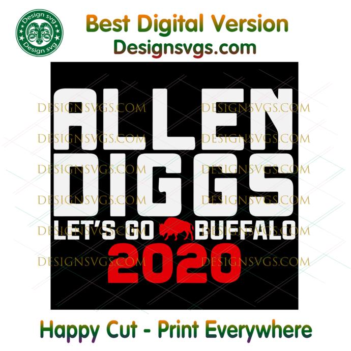 Allen Diggs Lets Go Buffalo 2020 Svg, Sport Svg, NFL Svg, Football Svg, Football
